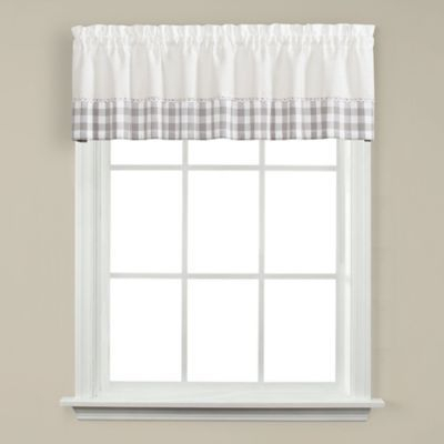 Cumberland Kichen Window Valance Grey | Products | Valance Pertaining To Cumberland Tier Pairs In Dove Gray (View 5 of 30)