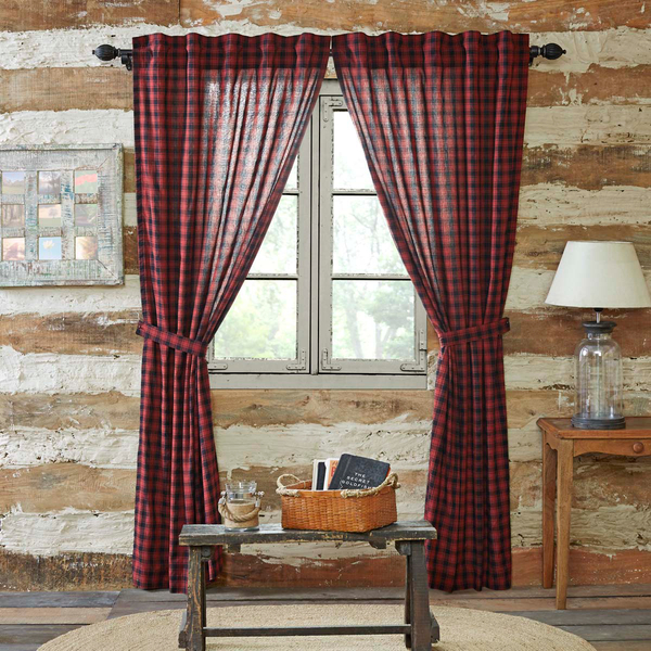 Cumberland Panel Lined Set Of 2 84X40 In 2019 | Rustic Within Cumberland Tier Pair Rod Pocket Cotton Buffalo Check Kitchen Curtains (View 12 of 30)