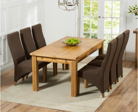 Current Normandy 180cm Solid Oak Extending Dining Table With Henley Throughout Normandy Extending Dining Tables (View 8 of 30)