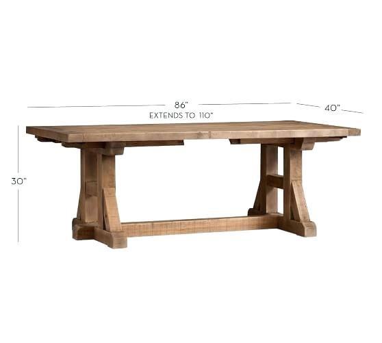 Current Reclaimed Wood Extending Dining Table – Drainspec Inside Hart Reclaimed Extending Dining Tables (#4 of 20)