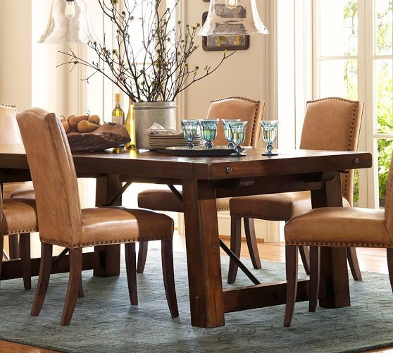 Current Rustic Mahogany Extending Dining Tables With Regard To Benchwright Extending Dining Table, Alfresco Brown (View 6 of 30)