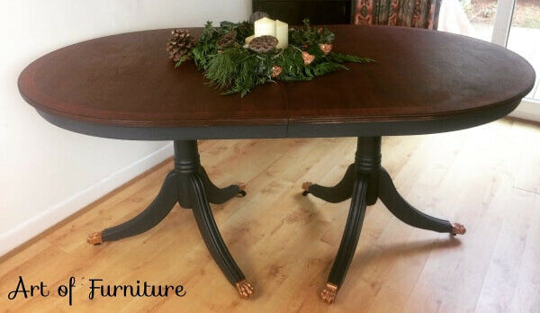 Current Victorian Style Rustic Mahogany Extending Dining Table Hand Painted In Fusion Mineral Paint Upcycled (View 10 of 30)