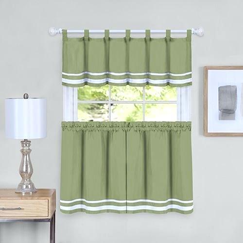 Curtain And Valance Set Regarding Live, Love, Laugh Window Curtain Tier Pair And Valance Sets (View 12 of 50)