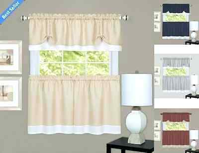 Curtain And Valance Set With Regard To Scroll Leaf 3 Piece Curtain Tier And Valance Sets (View 20 of 50)
