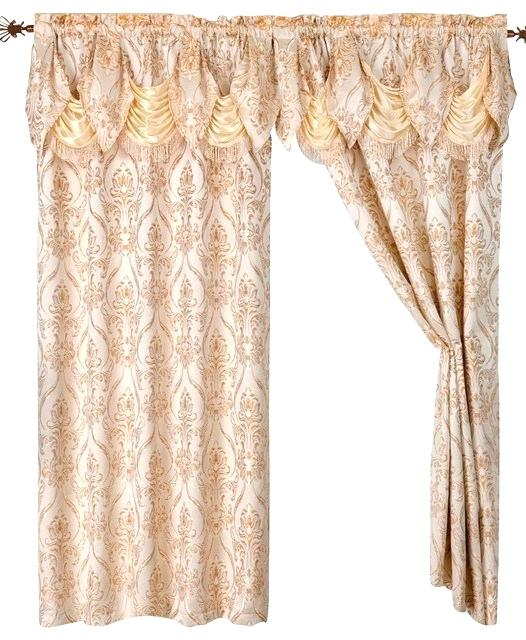 Curtain And Valance Set With Scroll Leaf 3 Piece Curtain Tier And Valance Sets (View 10 of 50)