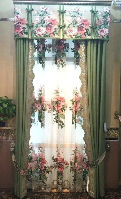 Curtain And Valance Set With Scroll Leaf 3 Piece Curtain Tier And Valance Sets (View 38 of 50)