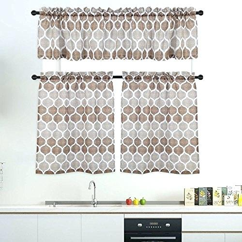 Curtain Sets With Valance – Mnkskin For Grey Window Curtain Tier And Valance Sets (View 12 of 50)