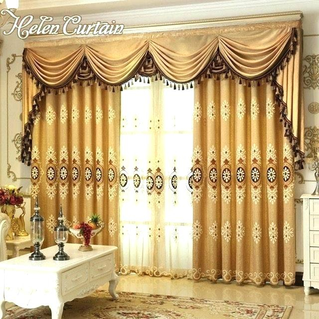 Curtain Sets With Valance – Mnkskin In Imperial Flower Jacquard Tier And Valance Kitchen Curtain Sets (#13 of 46)