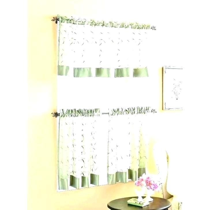 Popular Photo of Imperial Flower Jacquard Tier And Valance Kitchen Curtain Sets
