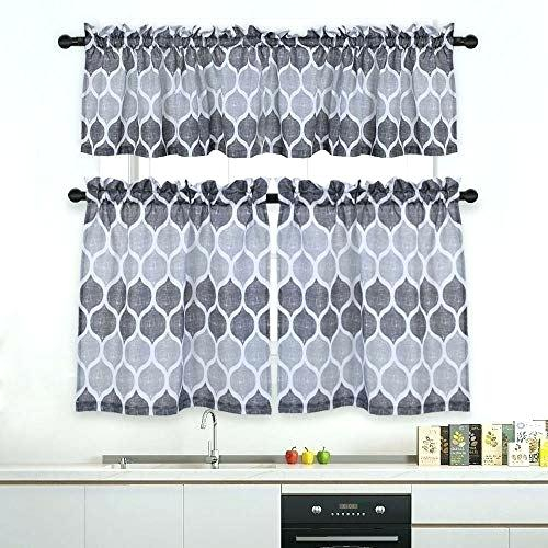 Curtain Sets With Valance – Mnkskin Throughout Imperial Flower Jacquard Tier And Valance Kitchen Curtain Sets (#17 of 46)