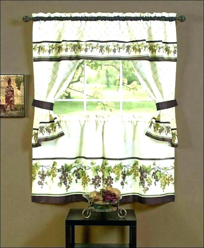 Curtain Sets With Valance – Mnkskin Throughout Sunflower Cottage Kitchen Curtain Tier And Valance Sets (#12 of 50)
