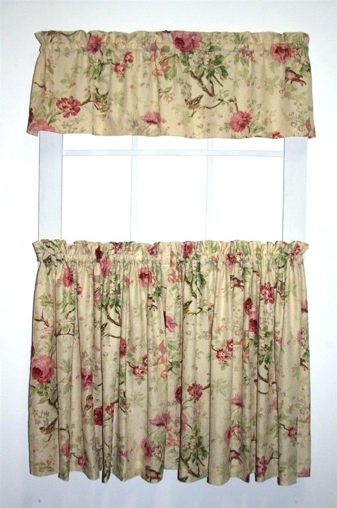 Curtain Sets With Valance – Mnkskin With Regard To Imperial Flower Jacquard Tier And Valance Kitchen Curtain Sets (#20 of 46)