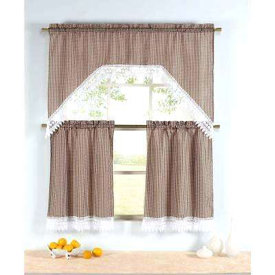 Curtain Tier – Divethrill Regarding Coffee Embroidered Kitchen Curtain Tier Sets (View 11 of 30)