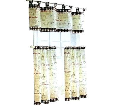 Curtain Tiers And Valances – Europeanschool For Coffee Embroidered Kitchen Curtain Tier Sets (View 12 of 30)