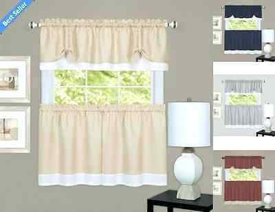Curtain Tiers And Valances – Europeanschool For Semi Sheer Rod Pocket Kitchen Curtain Valance And Tiers Sets (View 13 of 30)