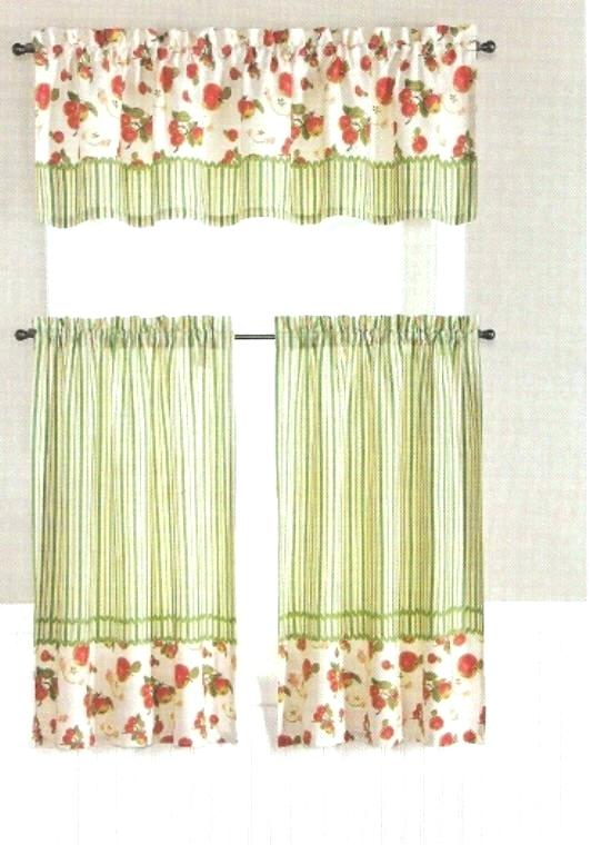 Curtain Tiers And Valances – Europeanschool Pertaining To Farmhouse Stripe Kitchen Tier Pairs (View 17 of 30)