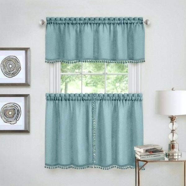 Curtain Tiers And Valances – Europeanschool Within Live, Love, Laugh Window Curtain Tier Pair And Valance Sets (View 21 of 50)