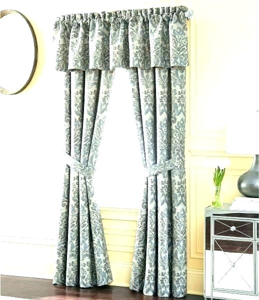 Curtain With Valance Curtain Valances At Walmart Shower Intended For Grandin Curtain Valances In Black (View 12 of 30)