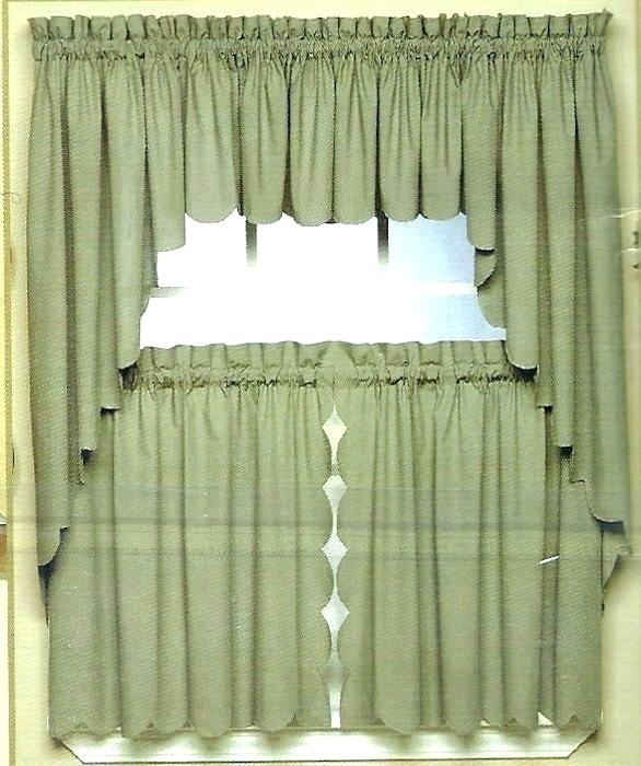 Curtains And Valances Lace Valances And Swags Scallop Edge For Luxurious Kitchen Curtains Tiers, Shade Or Valances (#8 of 50)