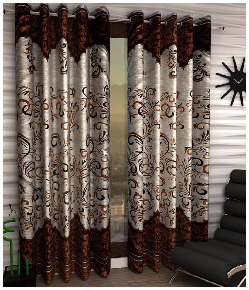 Curtains – Buy Door, Window, Kitchen, Living Room Curtains With Regard To Faux Silk 3 Piece Kitchen Curtain Sets (View 13 of 44)