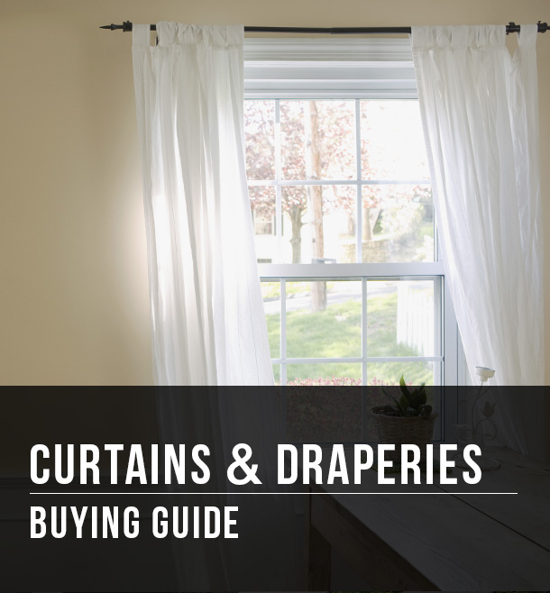 Curtains & Draperies Buying Guide At Menards® Throughout Semi Sheer Rod Pocket Kitchen Curtain Valance And Tiers Sets (View 42 of 50)