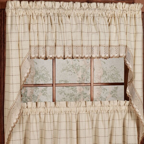Curtains For Kitchen Windows   Wayfair With Floral Watercolor Semi Sheer Rod Pocket Kitchen Curtain Valance And Tiers Sets (View 5 of 50)