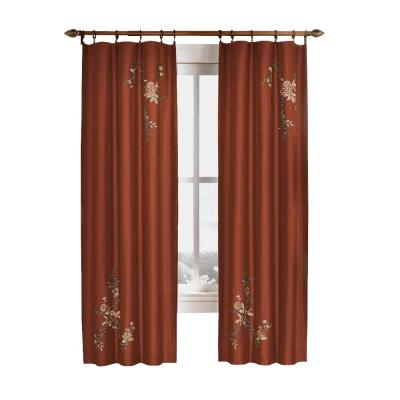 Curtainworks Semi Opaque Eggplant Asia Faux Silk Rod Pocket With Regard To Floral Embroidered Faux Silk Kitchen Tiers (View 6 of 50)