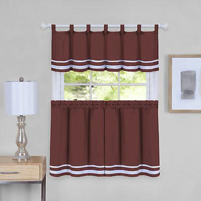 Inspiration about Dakota Window Curtain Tier Pair And Valance Set – 58X24 | Ebay Regarding Window Curtain Tier And Valance Sets (#3 of 50)