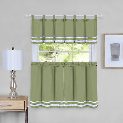 Inspiration about Dakota Window Curtain Tier Pair And Valance Set – 58X36 In Forest Valance And Tier Pair Curtains (#12 of 30)