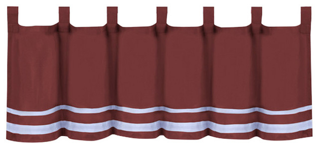 """Inspiration about Dakota Window Curtain Valance, 58""""x14"""", Burgundy Throughout Dakota Window Curtain Tier Pair And Valance Sets (#13 of 30)"""