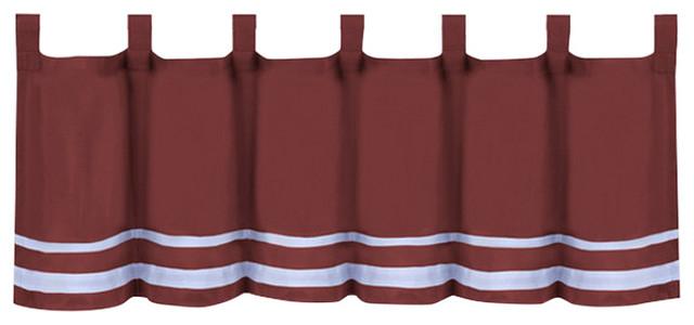 "Dakota Window Curtain Valance, 58""x14"", Burgundy Throughout Dakota Window Curtain Tier Pair And Valance Sets (#17 of 30)"