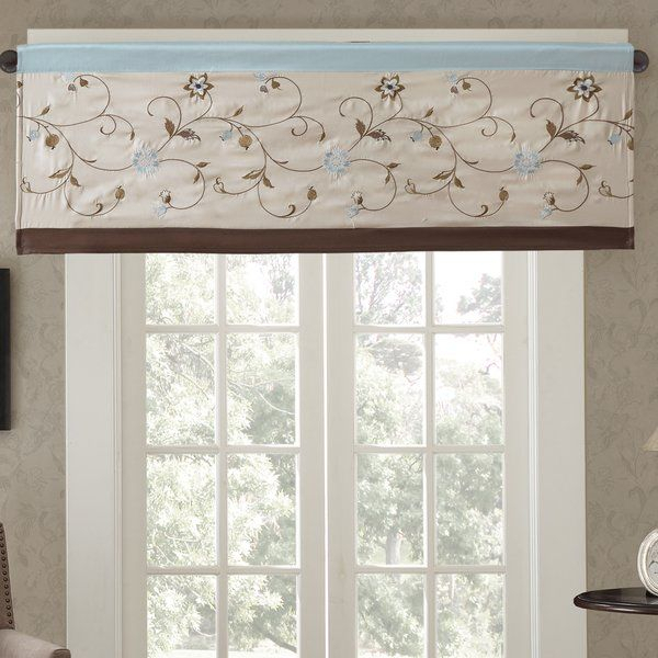 """Darby Home Co Brierwood Embroidered 50"""" Light Filtering Pertaining To Light Filtering Kitchen Tiers (#6 of 50)"""
