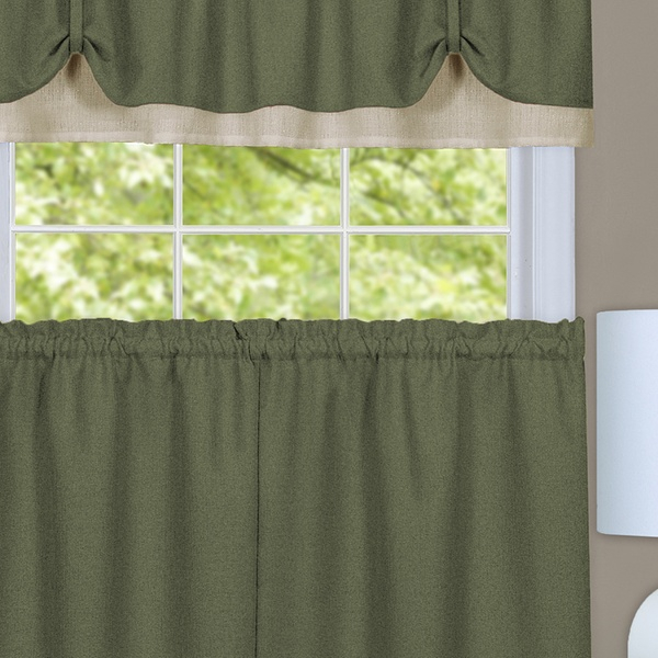 Darcy Window Curtain Tier And Valance Set With Grey Window Curtain Tier And Valance Sets (View 22 of 50)
