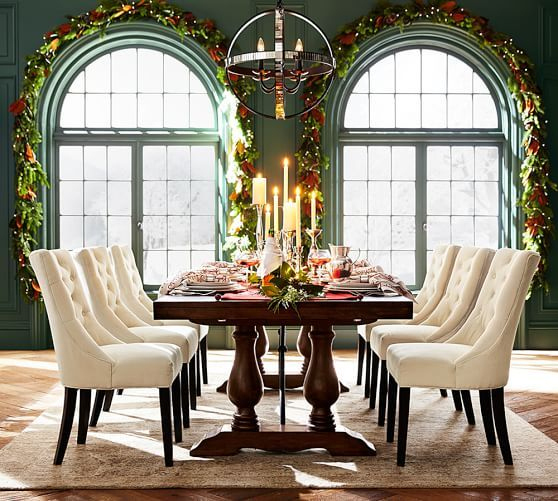 Dark Wood Dining For Preferred Hewn Oak Lorraine Extending Dining Tables (#4 of 30)