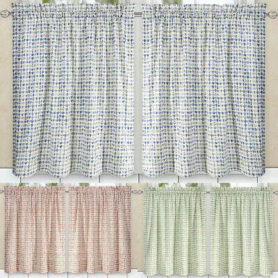 Davins 2 Piece Window Rod Pocket Pair Set With 2 Tiersellis Curtain –  56X24"
