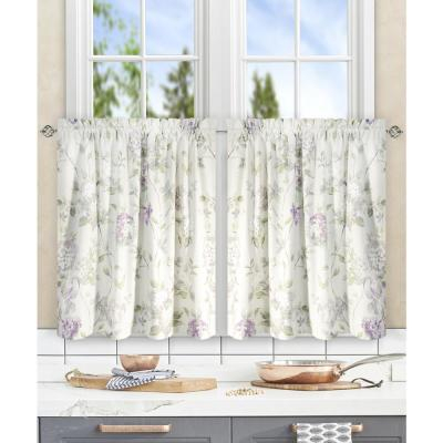 Inspiration about Davins Clay Cotton Twill Tailored Tier Curtain – 56 In. W X With Tailored Valance And Tier Curtains (#29 of 50)