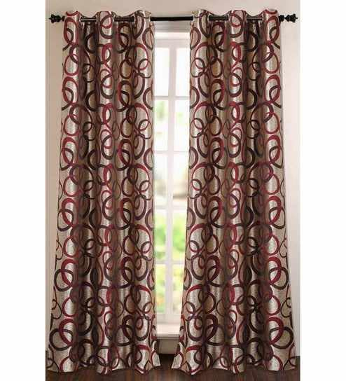 Deco Essential Purple Polyester Striped & Checkered 60 Inch Window Curtain  – Set Of 1 For Burgundy Cotton Blend Classic Checkered Decorative Window Curtains (View 14 of 30)