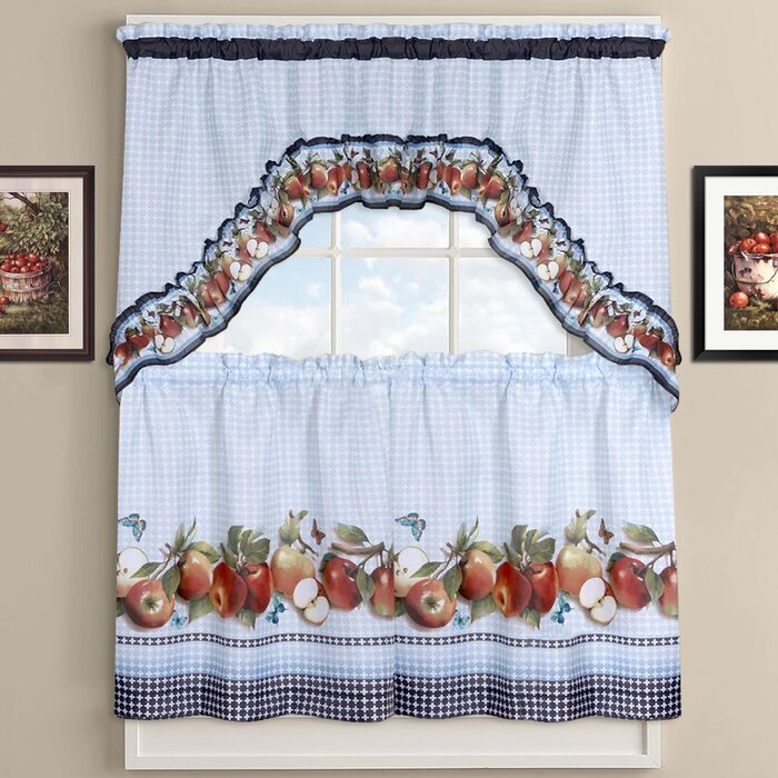 Inspiration about Delicious Apples Kitchen Curtains In Red Delicious Apple 3 Piece Curtain Tiers (#4 of 50)