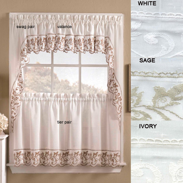 Designer Kitchen Curtains – Thecurtainshop Pertaining To Glasgow Curtain Tier Sets (View 8 of 30)