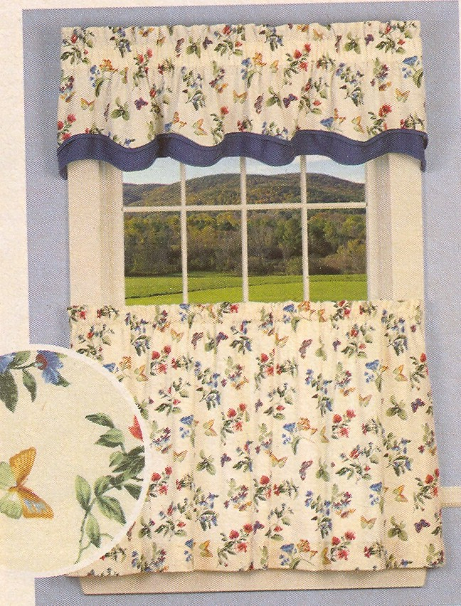 Inspiration about Designer Kitchen Curtains – Thecurtainshop With Twill 3 Piece Kitchen Curtain Tier Sets (#34 of 42)