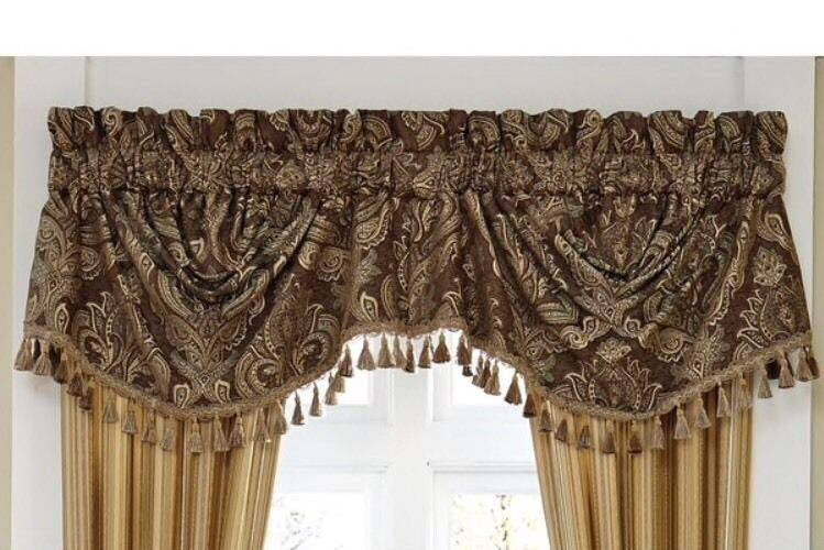 Inspiration about Details About Croscill Swag Valance Fringed 'kensington Intended For Waverly Kensington Bloom Window Tier Pairs (#3 of 30)