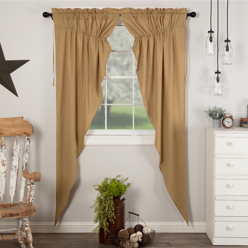 Inspiration about Details About Simple Life Flax Khaki Country Cottage Window Long Prairie Curtains For Simple Life Flax Tier Pairs (#9 of 30)