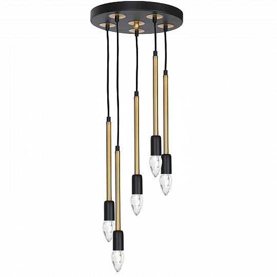 Inspiration about Details About Stylish Hanging Light Martino Black Brass 5X E14 Dining Table  Living Room Lamp With Regard To Current Martino Dining Tables (#14 of 30)