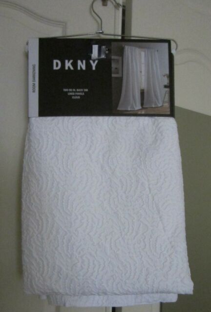 Dkny Cloud 2 White Textured Window Panels, 50 X 96 Ea, Room Darkening – New With Regard To Modern Subtle Texture Solid White Kitchen Curtain Parts With Grommets Tier And Valance Options (View 6 of 50)