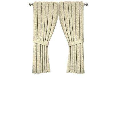 Inspiration about Donnington Window Curtain Panel In Linen – 52 In. W X 63 In. L Pertaining To Waverly Kensington Bloom Window Tier Pairs (#24 of 30)