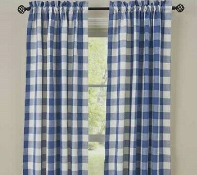 "Dove Gray Buffalo Check Curtains : 84"" X 72"" Country Plaid For Dove Gray Curtain Tier Pairs (View 11 of 30)"