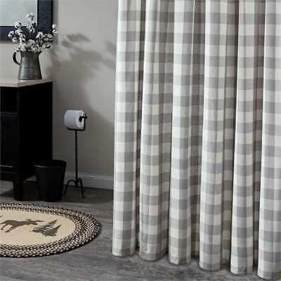 "Dove Gray Buffalo Check Curtains : 84"" X 72"" Country Plaid With Regard To Dove Gray Curtain Tier Pairs (View 13 of 30)"