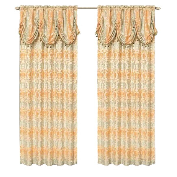 Drapes & Valance Sets For Embroidered Floral 5 Piece Kitchen Curtain Sets (View 11 of 30)