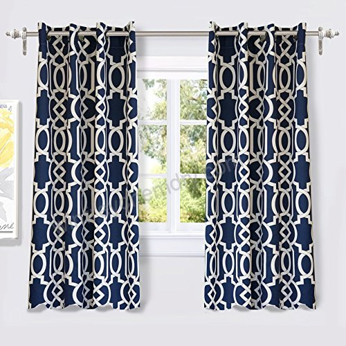 Driftaway Abigail Trellis Room Darkening/thermal Insulated Inside Trellis Pattern Window Valances (#8 of 30)