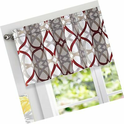 Driftaway Alexander Spiral Geo Trellis Pattern Window Curtain Valance,rod  Poc | Ebay Regarding Trellis Pattern Window Valances (#9 of 30)